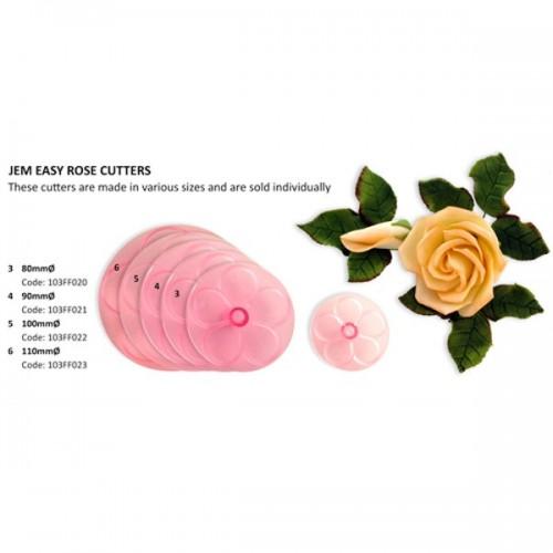 JEM Cutter Easy Rose  - 9cm