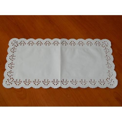 Papierové čipky pod tortu - obdĺžnik 20 x 40cm / 6ks