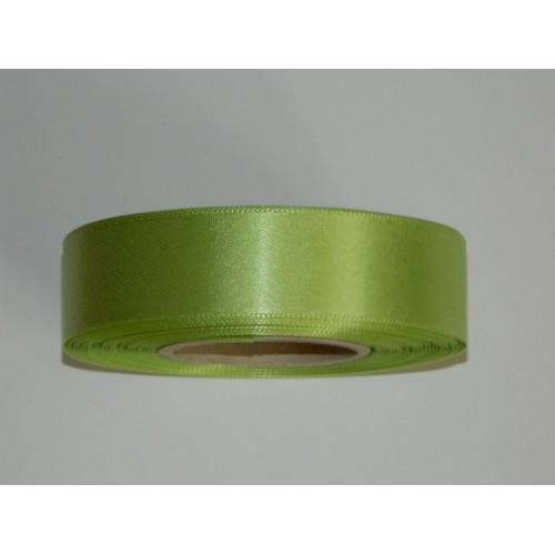 Atlasová stuha - limetková zelená 20m / 24mm