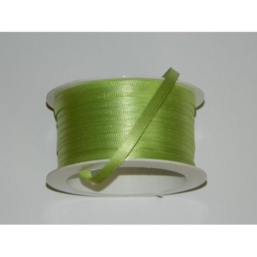 Atlasová stuha - limetková zelená 20m / 5mm