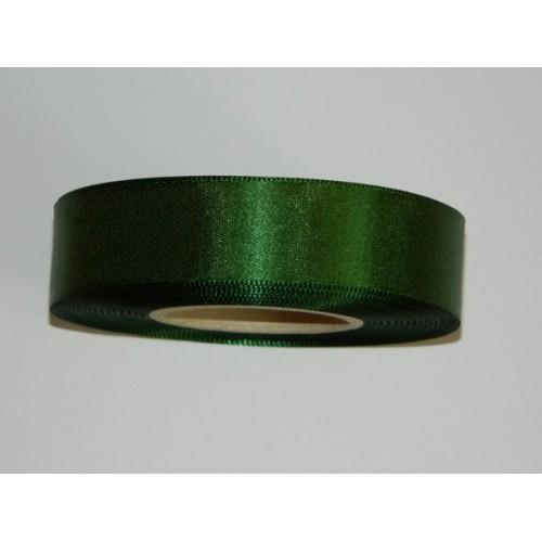 Atlasová stuha - tmavá zelená 20m / 24mm