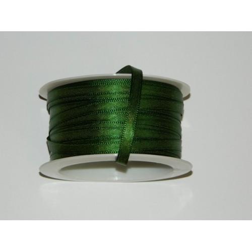 Atlasová stuha - tmavá zelená 20m / 5mm