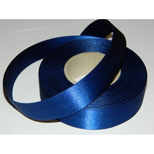 Atlasová stuha - tmavá modrá 20m / 24mm