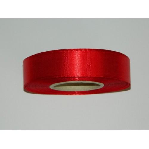 Satin ribbon - red 20m / 24 mm