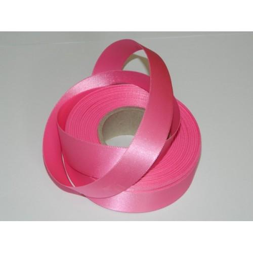 Atlasová stuha - růžová 20m/ 24mm