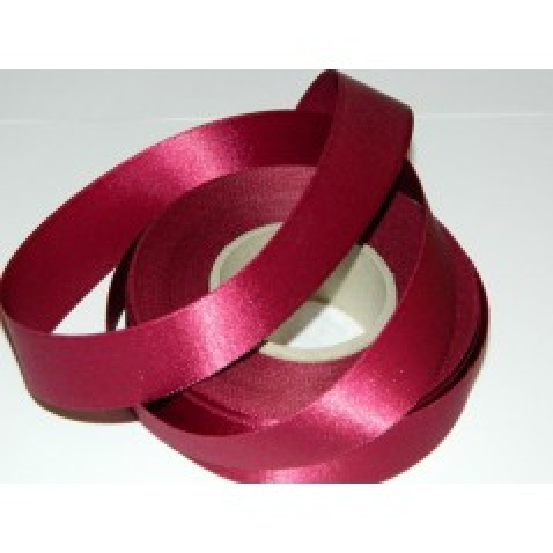 Satin ribbon - wine red 20m / 24 mm
