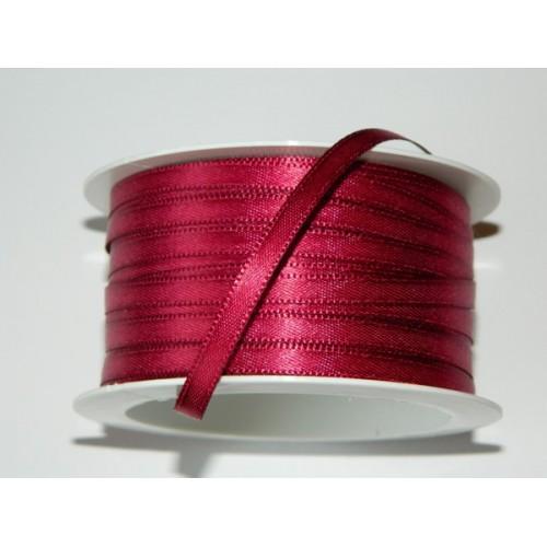 Satin ribbon - wine red 20m / 5 mm