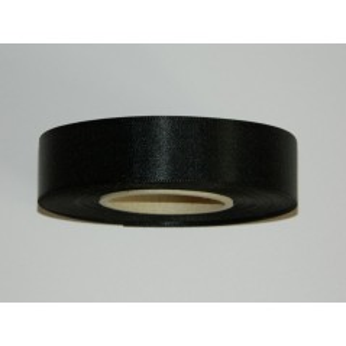 Satin ribbon - black 20m / 24 mm