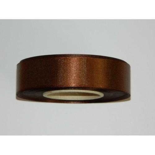Satin ribbon - brown 20m / 24 mm