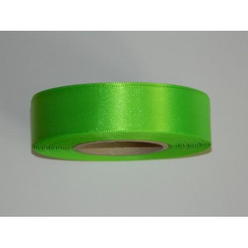 Satin ribbon - neon green 20m / 24 mm