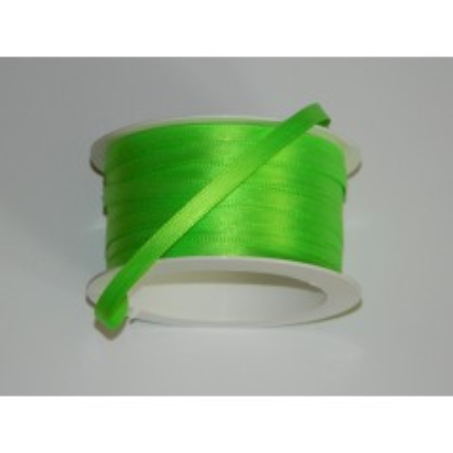 Satin ribbon - neon green 20m / 5 mm