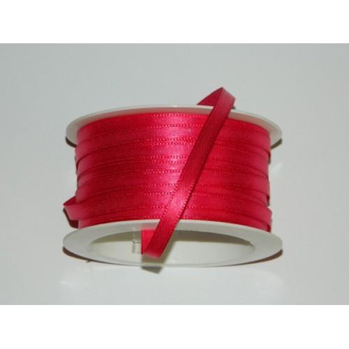Atlasová stuha - růžová tmavá 20m/ 5mm
