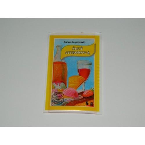 Prášková barva - Žluť citronová - 5g