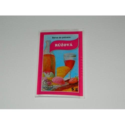 Prášková farba - Růžová - 5g