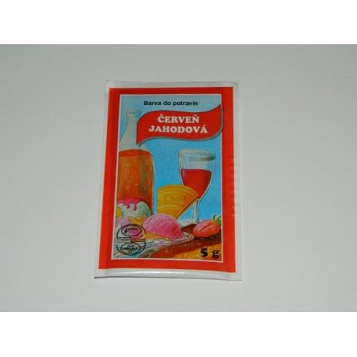 Prášková farba - jahodová červeň - 5g