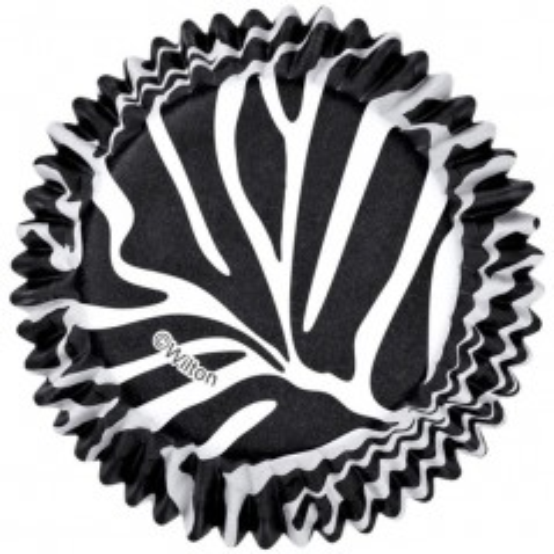 Wilton cukrárske košíčky - čierna zebra  - 36ks
