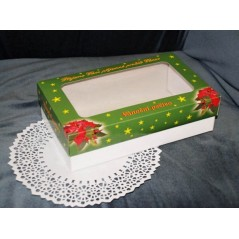 Boxes for Christmas cookies - Christmas Grean - 1 kg