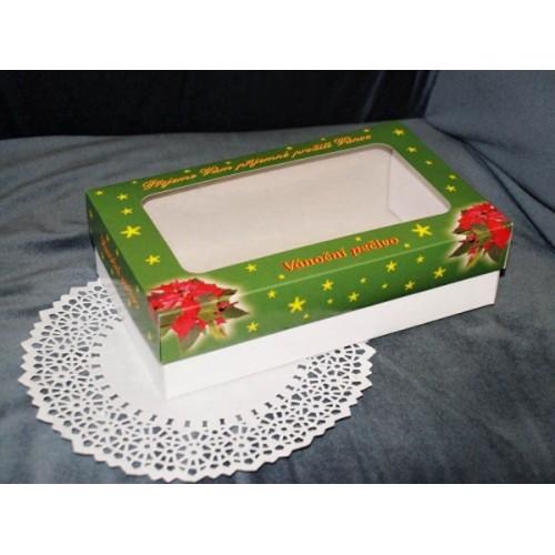 Krabice na cukroví - vánoční zelená - 1kg