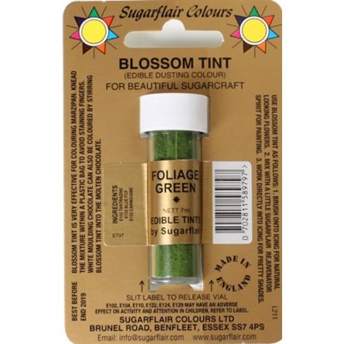 Sugarflair - prachová farba - Zelená - FOLIAGE GREEN7ml
