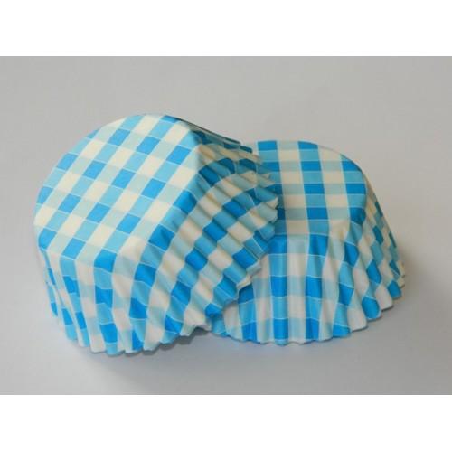 Cukrárske košíčky - modrá kostička - 50ks