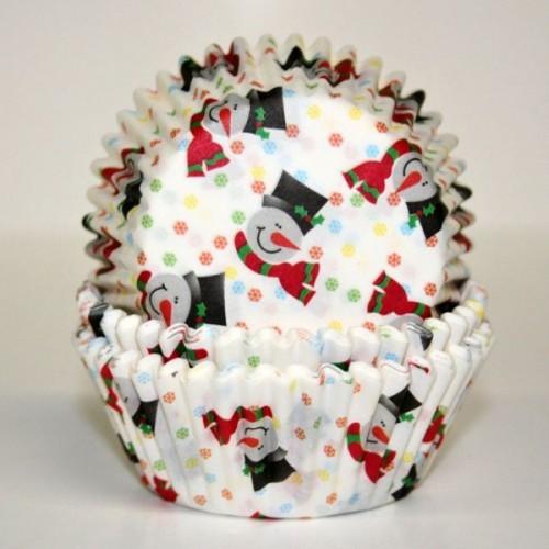 PME Baking Cups Smiley Snowman pk/60