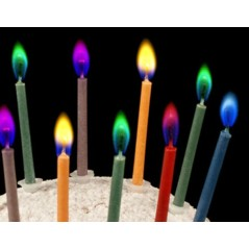 Sviečky s farebným plameňom - 12ks