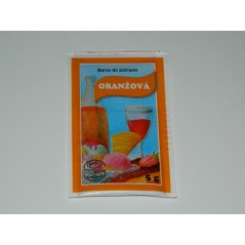 Prášková farba - Oranžová  - 5g