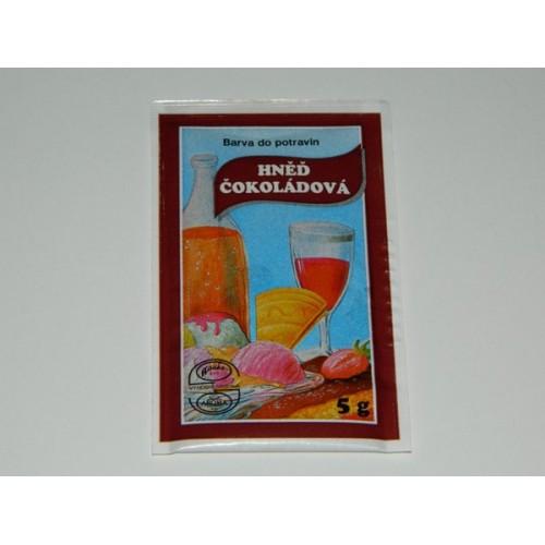 Prášková farba -  Hnedá čokoládová  - 5g