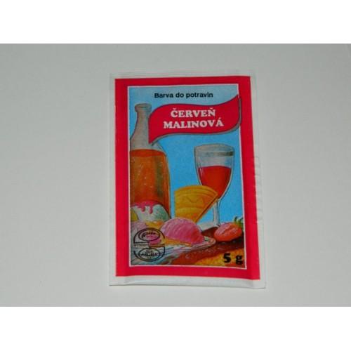 Prášková farba -  červeň malinová  - 5g