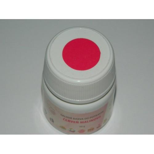 Gelová farba do potravín - červená malinová - 50g