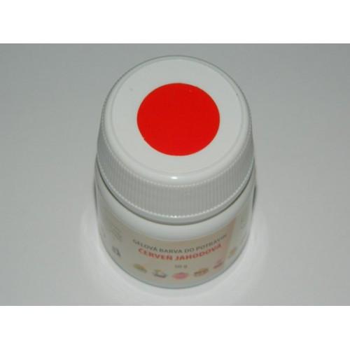 Gelová farba do potravín - červená jahodová - 50g