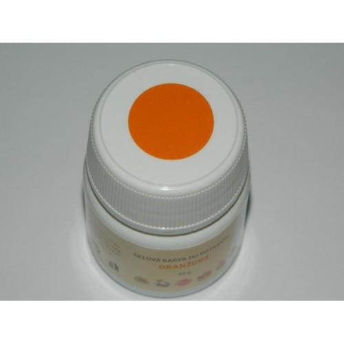 Gelová barva do potravin - oranžová - 50g