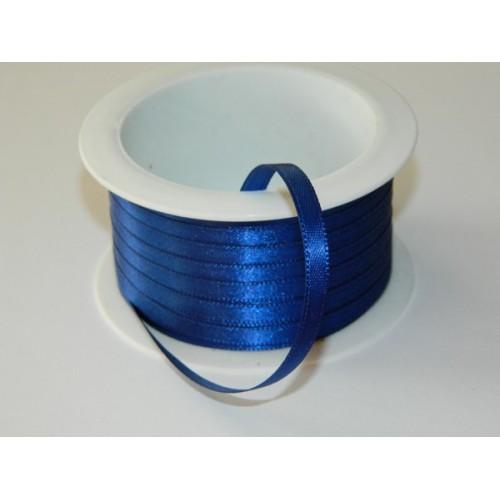 Atlasová stuha - tmavo modrá 20m / 5mm