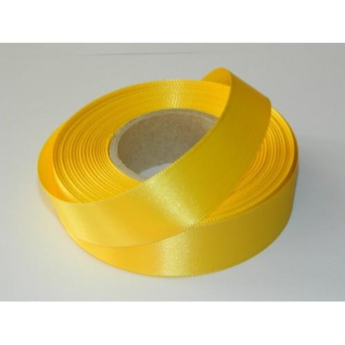 Atlasová stuha - žltá 20m / 24mm