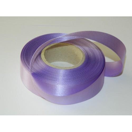 Atlasová stuha - svetlá fialová  20m / 24mm