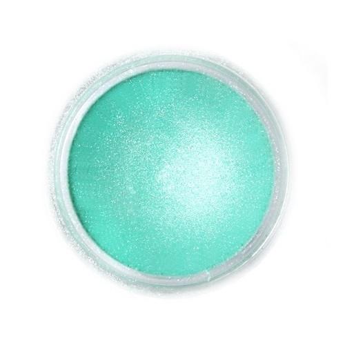 Jedlá prachová perleťová farba Fractal - Aurora Green, Zöld sarki fény (2 g)