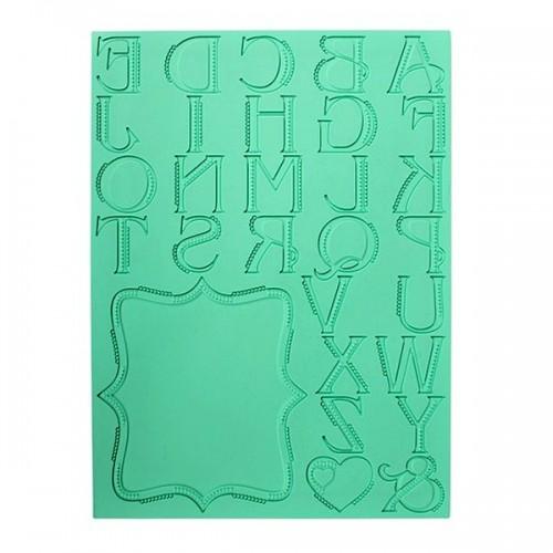 Silikónová šablóna na jedlú krajku - abeceda