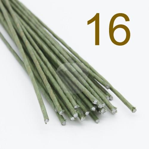 Caketools - 16 aranžovaciu drôtiky zelené  - 25ks