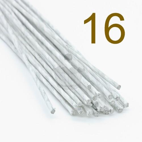 Caketools - 16 aranžovaciu drôtiky biele - 25ks