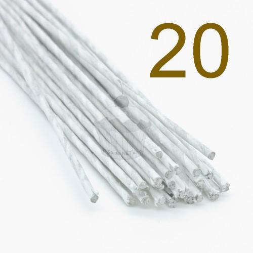 Caketools - 20 aranžovaciu drôtiky bielé - 50ks