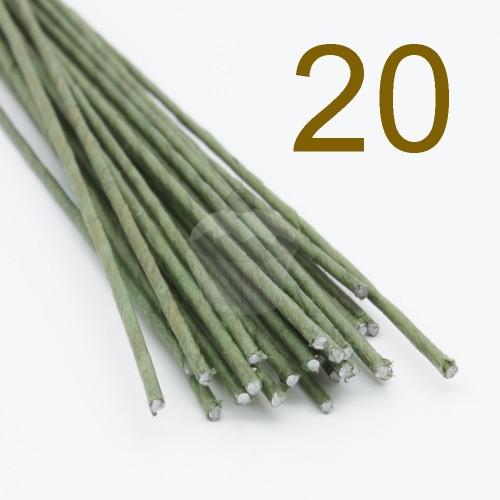 Caketools - 20 aranžovaciu drôtiky zelené - 50ks