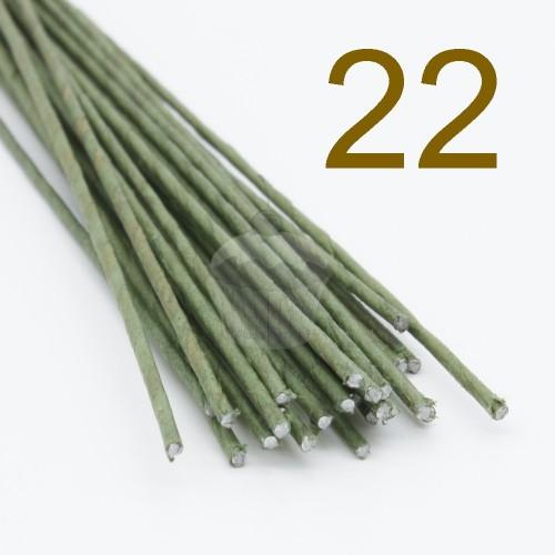 Caketools - 22 aranžovaciu drôtiky zelené - 50ks