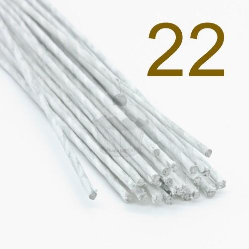Caketools - 22 aranžovaciu drôtiky biele- 50ks