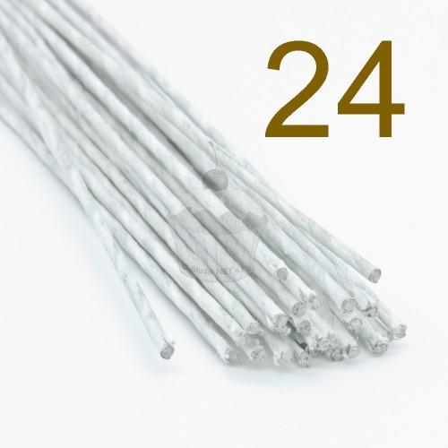 Caketools - 24 aranžovaciu drôtiky biele- 50ks
