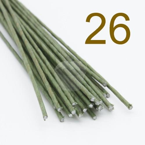 Caketools - 26 aranžovaciu drôtiky zelené - 50ks