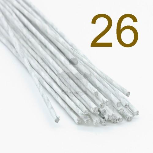 Caketools - 26 aranžovaciu drôtiky biele - 50ks
