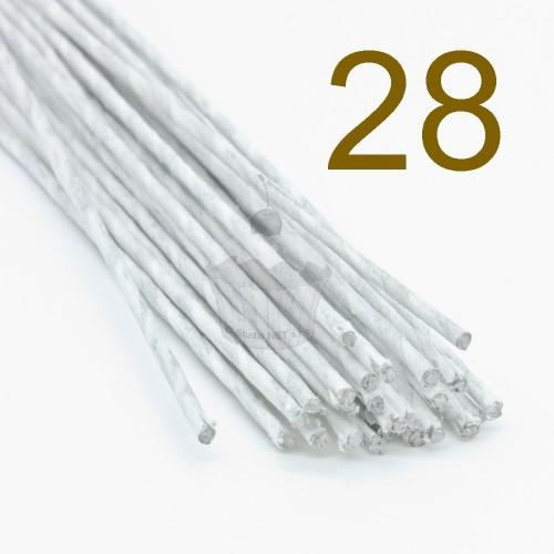 Caketools - 28 aranžovaciu drôtiky biele - 50ks