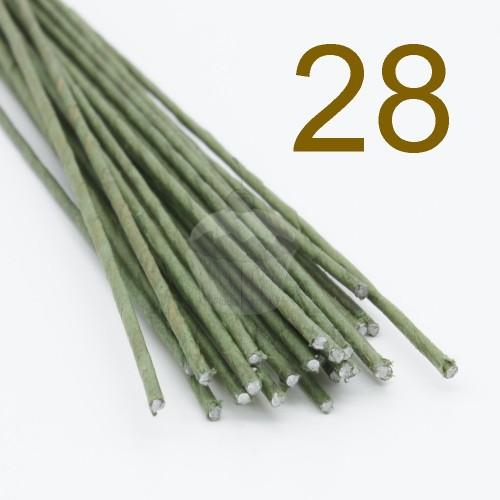Caketools - 28 aranžovaciu drôtiky zelené - 50ks