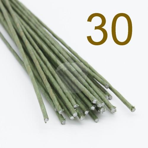 Caketools - 30 aranžovaciu drôtiky zelené - 50ks