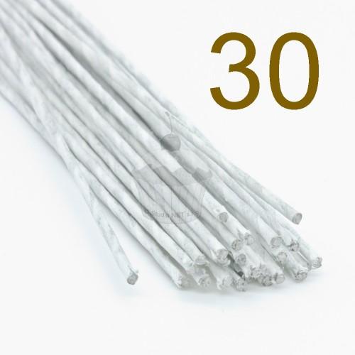 Caketools - 30 aranžovaciu drôtiky biele - 50ks